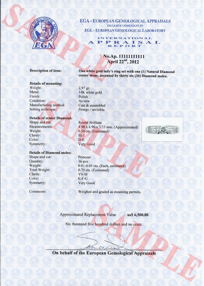 Egl Platinum Appraisals Department